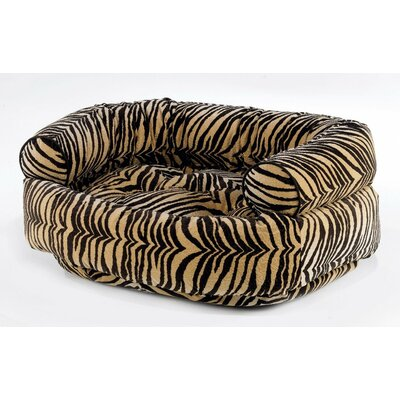 Double Bolster Dog Bed Size: Large (42 L x 32 W), Color: Pomegranate