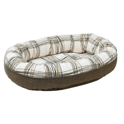 Diam Microvelvet Orbit Donut Dog Bed Size: Small (27 L x 22 W), Color: Daydream (driftwood)