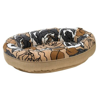 Diam Microvelvet Orbit Donut Dog Bed Size: Small (27 L x 22 W), Color: Tranquility (flax)