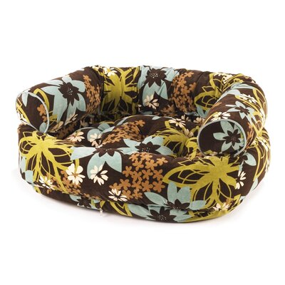 Double Bolster Dog Bed Size: Medium (35 L x 27 W), Color: St. Tropez