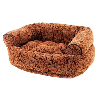 Double Bolster Dog Bed Size: Small (27 L x 22 W), Color: Urban Animal