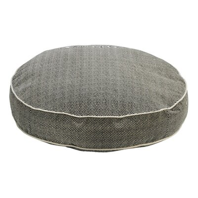 Super Soft Round Dog Pillow Size: Large (44 L x 44 W), Color: Herringbone
