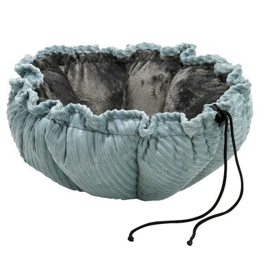 Buttercup Nest Dog Bed Size: Large (32 L x 32 W), Color: Green Apple Bones