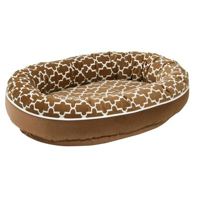 Diam Microvelvet Orbit Donut Dog Bed Size: X-Large (50 L x 36 W), Color: Cedar Lattice (toffee)
