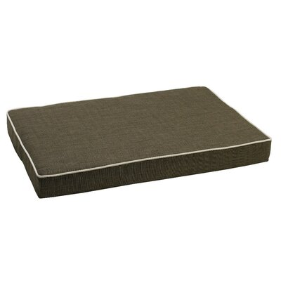 Isotonic Diam Linen Dog Foam Mattress Size: Large (36 L x 24 W), Color: Storm (oyster)
