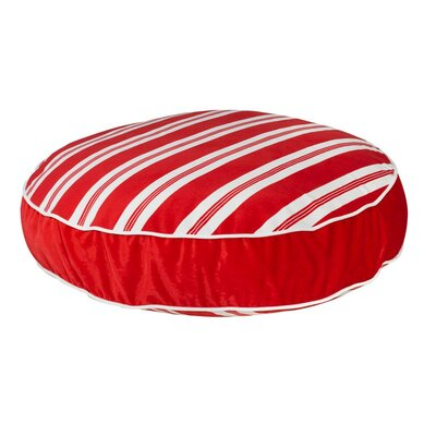 Super Soft Round Dog Pillow Size: Large (44 L x 44 W), Color: Peppermint Stripe