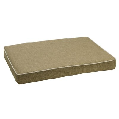 Isotonic Diam Linen Dog Foam Mattress Size: Medium (30 L x 20 W), Color: Flax (oyster)