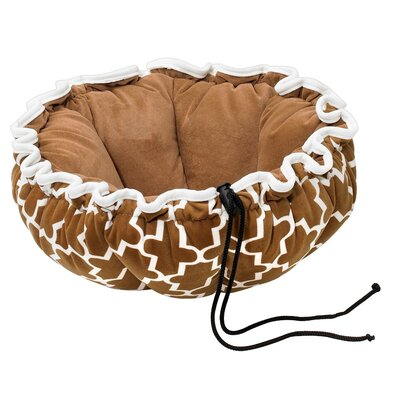 Buttercup Nest Dog Bed Size: Large (32 L x 32 W), Color: Cedar Lattice