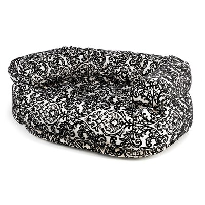 Double Bolster Dog Bed Size: Small (27 L x 22 W), Color: Ritz