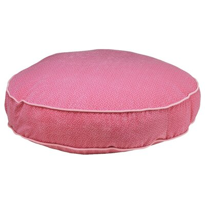 Super Soft Round Dog Pillow Size: Small (28 L x 28 W), Color: Flamingo Bones