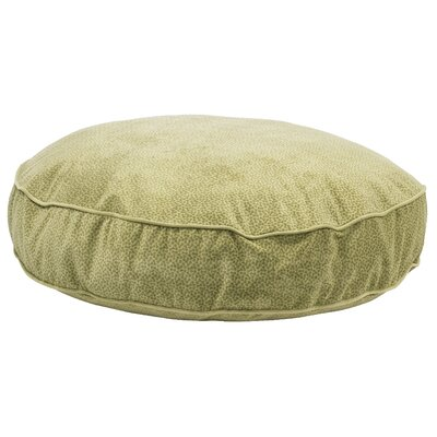 Super Soft Round Dog Pillow Size: Large (44 L x 44 W), Color: Green Apple Bones