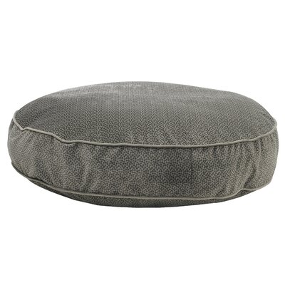 Super Soft Round Dog Pillow Size: Small (28 L x 28 W), Color: Pewter Bones