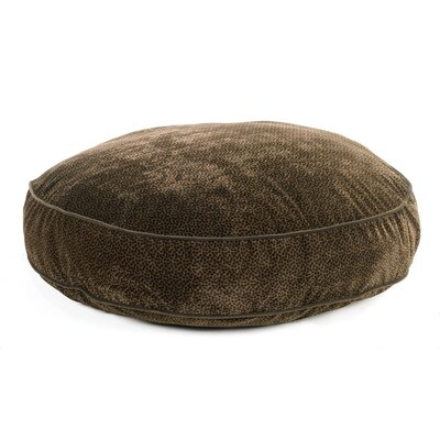 Super Soft Round Dog Pillow Size: Small (28 L x 28 W), Color: Chocolate Bones