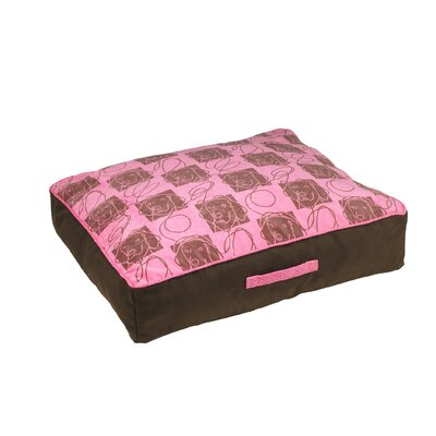 Microvelvet Diam Tahoe Dog Pillow Color: Tickled Pink (cowboy), Size: X-Large (38 L x 33 W)