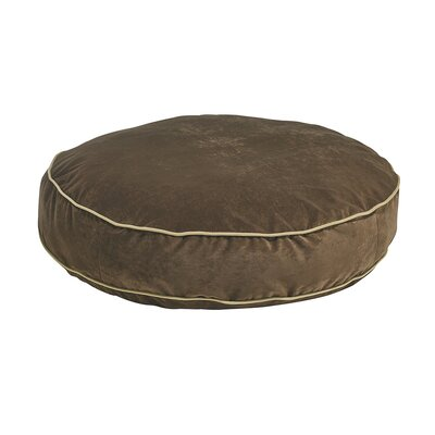 Round Dog Bed Size: Small - 28 L x 28 W, Color: Walnut