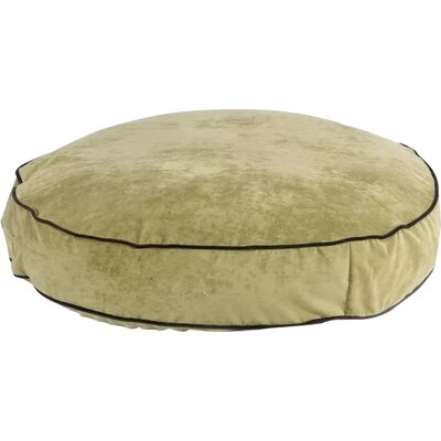 Super Soft Round Dog Pillow Size: X-Large (52 L x 52 W), Color: Celery