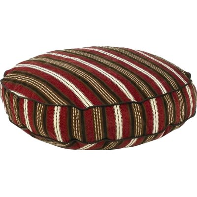 Super Soft Round Dog Pillow Size: Small (28 L x 28 W), Color: Boswer Stripe