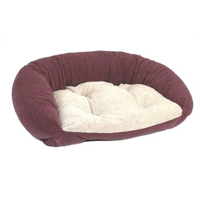 Reversible Lounger Bolster Dog Bed Size: Large (38 L x 24 W), Color: Burgundy Berber