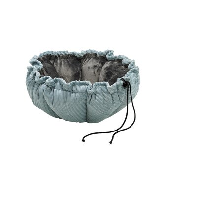 Buttercup Nest Dog Bed Size: Small (24 L x 24 W), Color: Graphite Lattice