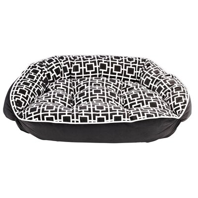 Diam Crescent Bolster Dog Bed Size: Medium (21 L x 18 W), Color: Courtyard Grey