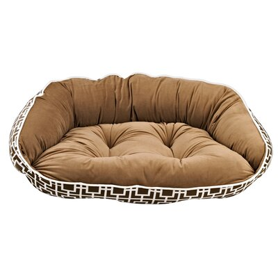 Diam Crescent Bolster Dog Bed Size: Medium (21 L x 18 W), Color: Courtyard Taupe