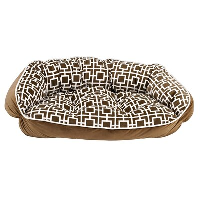 Crescent Dog Bed Color: Taupe