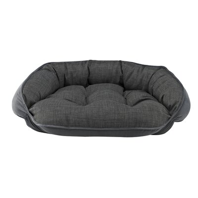 Diam Microvelvet Crescent Bolster Dog Bed Size: X-Large (32 L x 27 W), Color: Storm