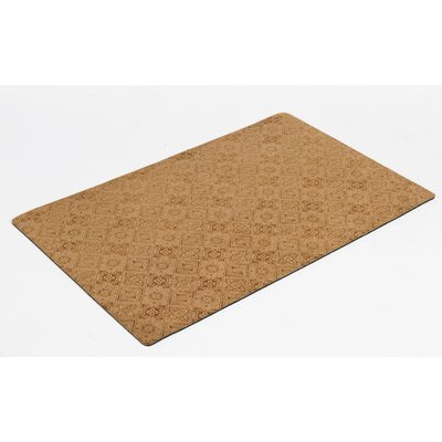 Diam Microvelvet Pet Doormat Color: Pecan Filigree