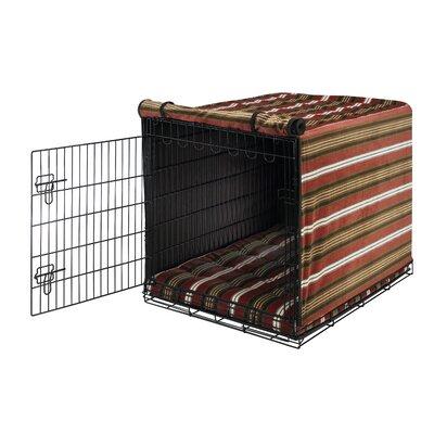 Luxury Dog Crate Cover Size: Medium (21 H x 19 W x 30 D)