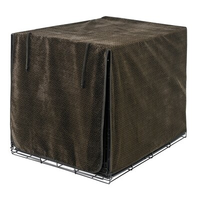 Luxury Dog Crate Cover Size: Medium (21 H x 19 W x 30 D), Color: Choc Bones (Esp)