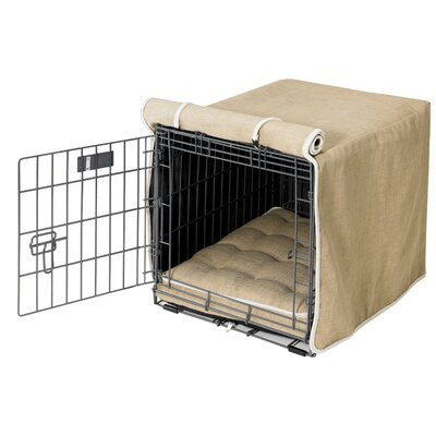 Luxury Dog Crate Cover I Size: Medium (21 H x 19 W x 30 D)