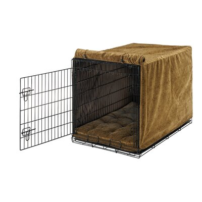 Luxury Dog Crate Cover Size: Medium (21 H x 19 W x 30 D)