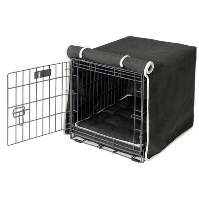 Luxury Dog Crate Cover Size: Large (25 H x 23 W x36 D)