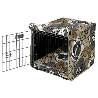 Luxury Dog Crate Cover Size: X-Large (30 H x 28 W x 42 D)