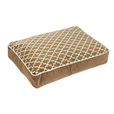 Super-Loft Rectangle Dog Pillow Size: Large (36 L x 26 W), Color: Cedar Lattice (acorn)