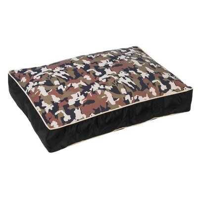Super-Loft Rectangle Dog Pillow Size: XX-Large (52 L x 35 W), Color: Graphite Lattice (river r)