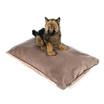 Designer Rectangle Dog Pillow Size: Extra Large (46 L x 34 W), Color: Taupe