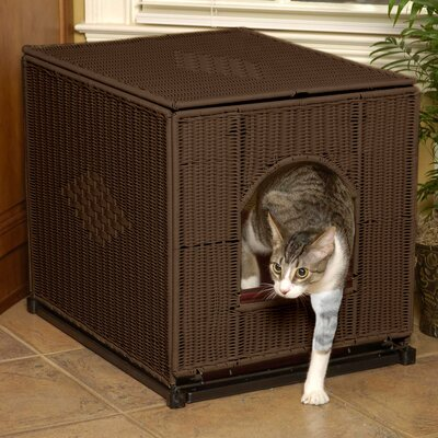 Decorative Litter Box Enclosure Color: Dark Brown, Size: Large (19 H x 16 W x 20 D)