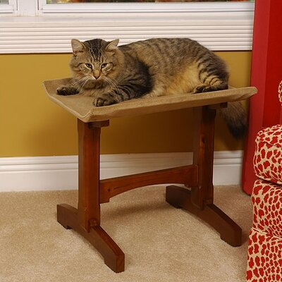 19 Single Seat Wooden Cat Perch Finish: Early American