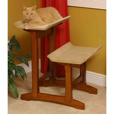 29 Double Seat Wooden Cat Perch Finish: Early American