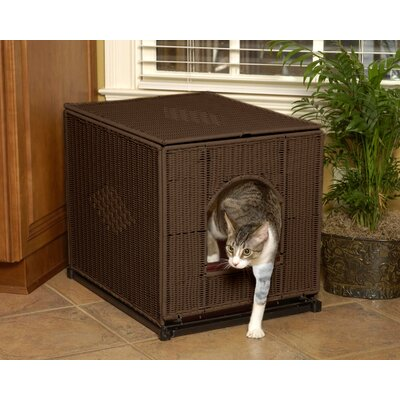 "Decorative Litter Box Cover Color: Dark Brown, Size: Large (19"" H x 16"" W x 20"" D)"
