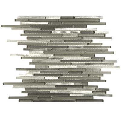 Commix Brushed Random Sized Aluminum/Glass Mosaic Tile in Sonoma