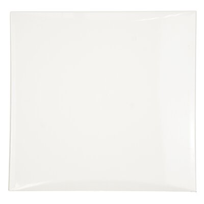 Deco 8 x 8 Ceramic Field Tile in Convex White