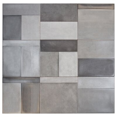 Civil 8 x 8 Ceramic Mosaic Tile in Brown/Gray/Ivory