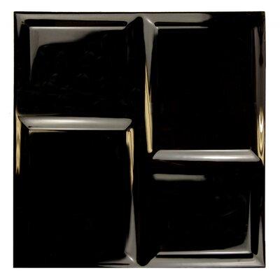 Deco 8 x 8 Ceramic Field Tile in Black