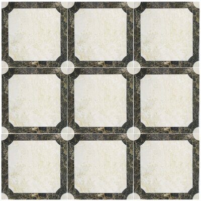 Martius 17.75 x 17.75 Ceramic Field Tile in Gray