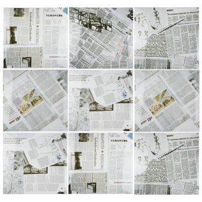Headline 17.38 x 17.38 Porcelain Field Tile in White/Black/Green