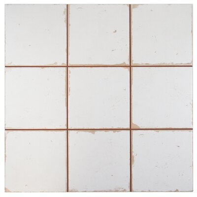 Faventie Manises 13 x 13 Ceramic Field Tile in White