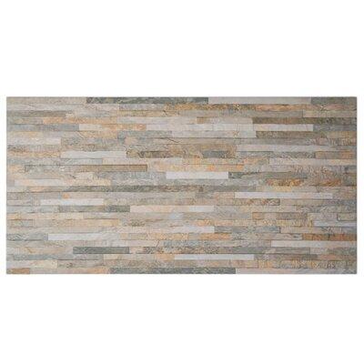 Muro Arriba 12.5 x 24.5 Porcelain Splitface Tile in Ochre