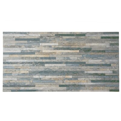 Muro Arriba 12.5 x 24.5 Porcelain Splitface Tile in Gray